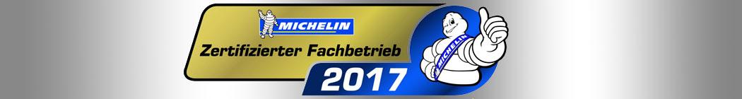Reifen Uthardt wurde nun auch von Michelin als zertifizierter Fachbetrieb 2017 ausgezeichnet.